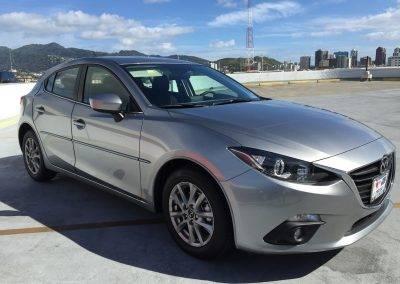 Grey Mazda 3 with PPF
