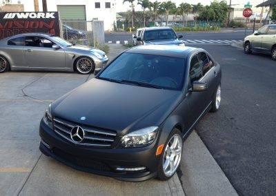 Mercedes matte black color change wrap