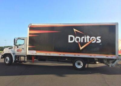 Doritos semi truck wrap