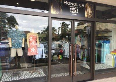 Honolua surf co sign on store front