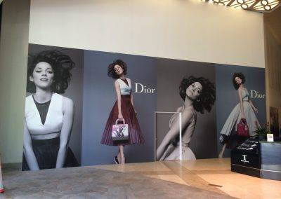 Dior wall wrap