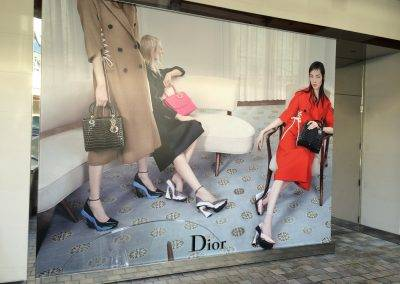 Dior store front graphics