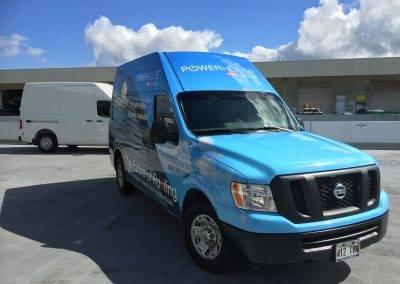 Power house solar truck wrap